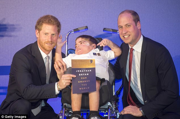 Prince William and Prince Harry give Jonathan award 2