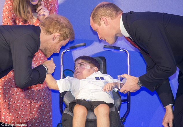 Prince William and Prince Harry give Jonathan award